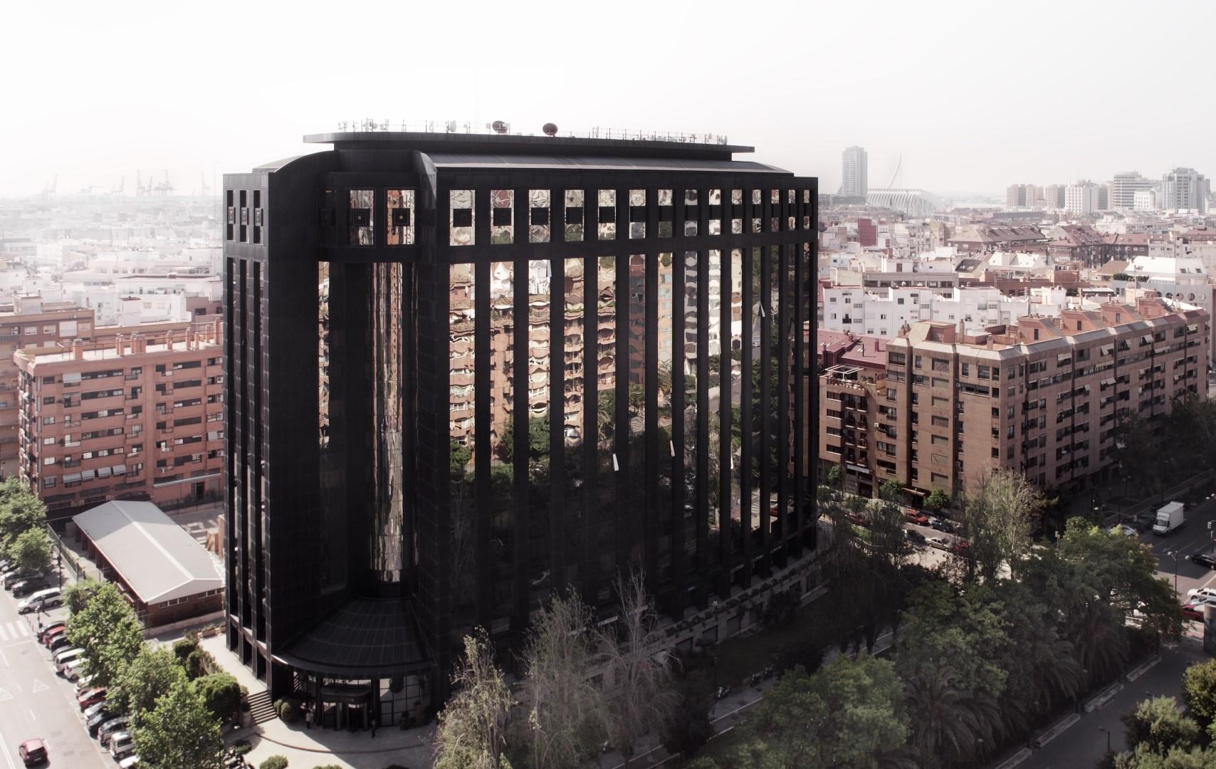 Edificio Europa en Valencia vista aerea