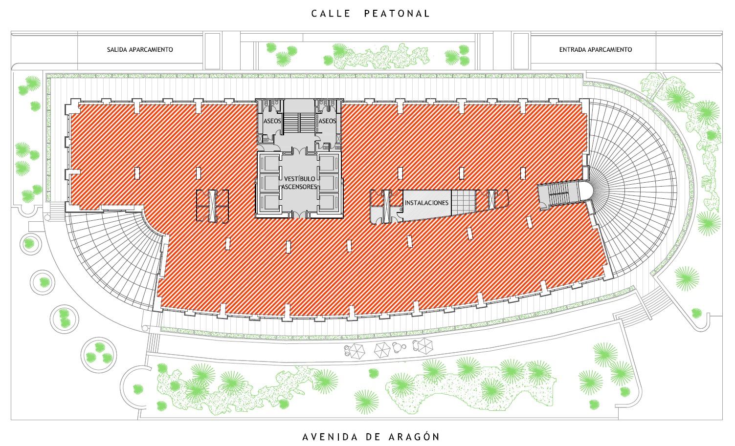 Plano del Edificio Europa en Valencia